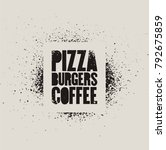 pizza  burgers  coffee.... | Shutterstock .eps vector #792675859