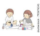 vector illustration of two... | Shutterstock .eps vector #792676141