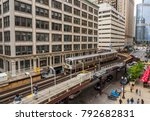 elevated train tracks above the ... | Shutterstock . vector #792682831