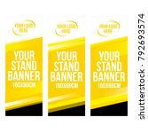 set of modern roll up banner... | Shutterstock .eps vector #792693574