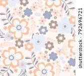 floral pattern in vector | Shutterstock .eps vector #792696721