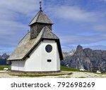 church in the dolomite alps ... | Shutterstock . vector #792698269