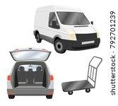 transportation  deliver ... | Shutterstock .eps vector #792701239