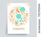 philanthropy design  vector... | Shutterstock .eps vector #792705454