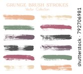 watercolor  ink or paint brush... | Shutterstock .eps vector #792706981