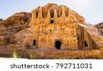 ruins of petra | Shutterstock . vector #792711031