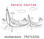 kerala tourism illustration | Shutterstock .eps vector #792712231