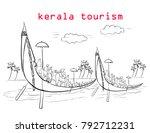 kerala tourism illustration | Shutterstock .eps vector #792712231