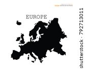 europe map.vector illustration. | Shutterstock .eps vector #792713011