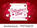 valentines day sale greeting... | Shutterstock .eps vector #792718225