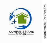 cleaning and maintenance logo... | Shutterstock .eps vector #792725674