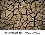 dry cracked earth texture... | Shutterstock . vector #792729439