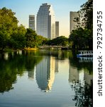 buildings and parks in thailand.... | Shutterstock . vector #792734755
