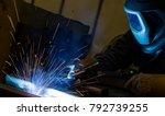 welder  craftsman  erecting... | Shutterstock . vector #792739255