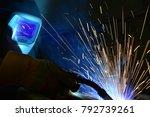 welder  craftsman  erecting... | Shutterstock . vector #792739261