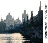 prague  czech republic  old... | Shutterstock . vector #792739489