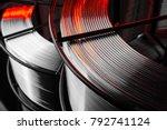 welding wire  stainless steel ... | Shutterstock . vector #792741124