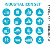 industry icon set design | Shutterstock .eps vector #792746671
