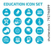 education icon set design | Shutterstock .eps vector #792746899