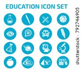 education icon set design | Shutterstock .eps vector #792746905