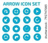 arrow icon set design   Shutterstock .eps vector #792747085