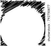 circle hatching grunge graphite ... | Shutterstock .eps vector #792750877