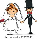 wedding pictures  bride and... | Shutterstock .eps vector #79275541