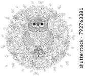coloring book for adult and... | Shutterstock . vector #792763381