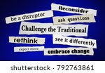 challenge the traditional... | Shutterstock . vector #792763861