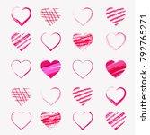 vector illustration.valentine's ... | Shutterstock .eps vector #792765271