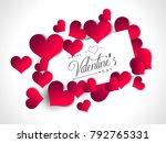 vector illustration.valentine's ... | Shutterstock .eps vector #792765331