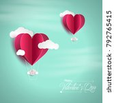 vector illustration.valentine's ... | Shutterstock .eps vector #792765415