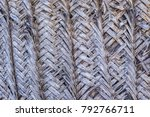 dry palm tree woven wall... | Shutterstock . vector #792766711