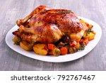 Roast Chicken With Brussel...