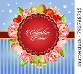 valentine card decorate... | Shutterstock .eps vector #792768715