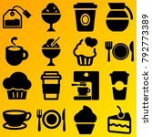 cafe vector icon set consisting ... | Shutterstock .eps vector #792773389