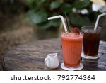 apple juice and americano | Shutterstock . vector #792774364