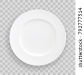 vector stock table white plate  ... | Shutterstock .eps vector #792777514