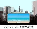 vr concept illustration. the... | Shutterstock .eps vector #792784699