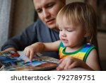 young family with twin girls in ... | Shutterstock . vector #792789751