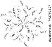 ornament card with mandala.... | Shutterstock . vector #792791527