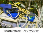 chaotic interlacing of wires... | Shutterstock . vector #792792049