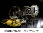 digital cryptocurrencys bitcoin ... | Shutterstock . vector #792798079