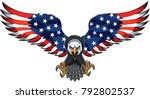 american eagle with usa flags | Shutterstock .eps vector #792802537