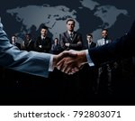 handshake isolated on business... | Shutterstock . vector #792803071