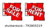 flat and apartment is for sale  ...   Shutterstock .eps vector #792805219