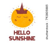 card with grunge lettering... | Shutterstock .eps vector #792805885
