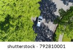 aerial top down photo silver... | Shutterstock . vector #792810001