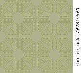 olive green geometric print.... | Shutterstock .eps vector #792810961