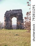 Small photo of Aqueduct park on Appia street, Rome , Italy